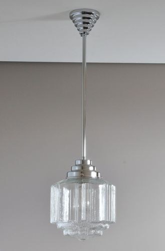 Repro st kilda art deco light chrome pendant
