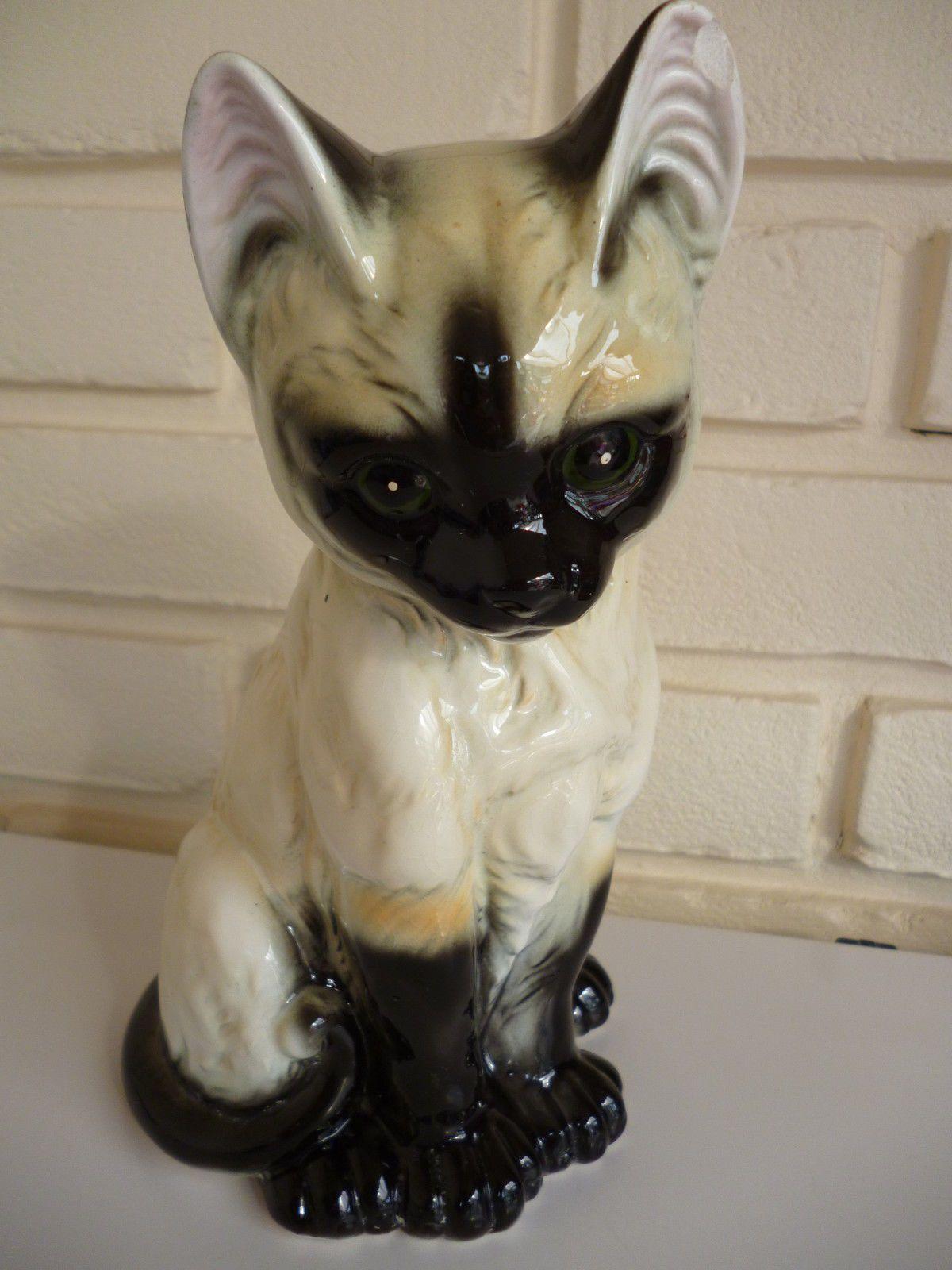 Cat Ornament Siamese Kitten By JBG London Vintage eBay