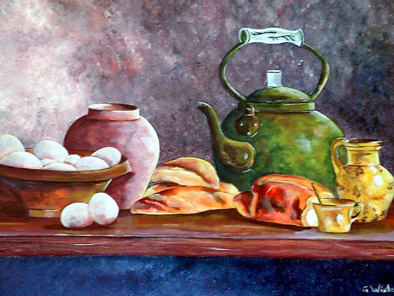 Een stilleven is een artistieke compositie (schilderij, tekening, foto) van roerloze of levenloze voorwerpen, die met zorg zijn belicht.