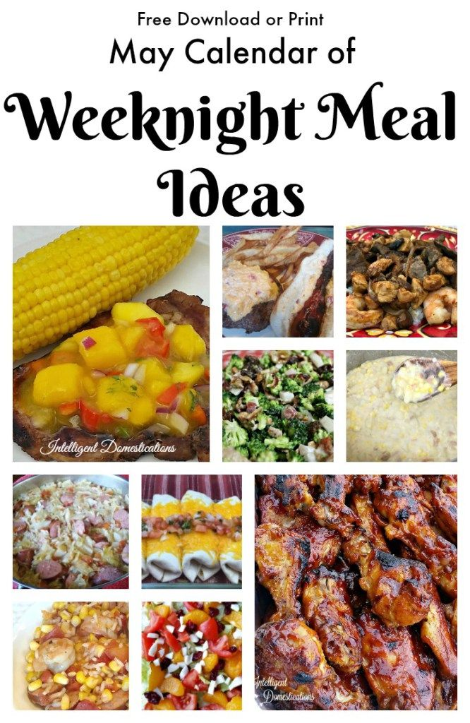 May monthly weeknight meal plan pinterest weeknight meals meal monthly meal plan for may 2017 weeknight meal ideas with easy recipes free download or printable calendar forumfinder Gallery