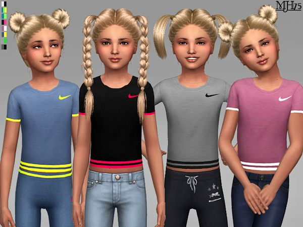 Margeh75's S4 Kids Like Nike Tees Vetement enfant, Sims