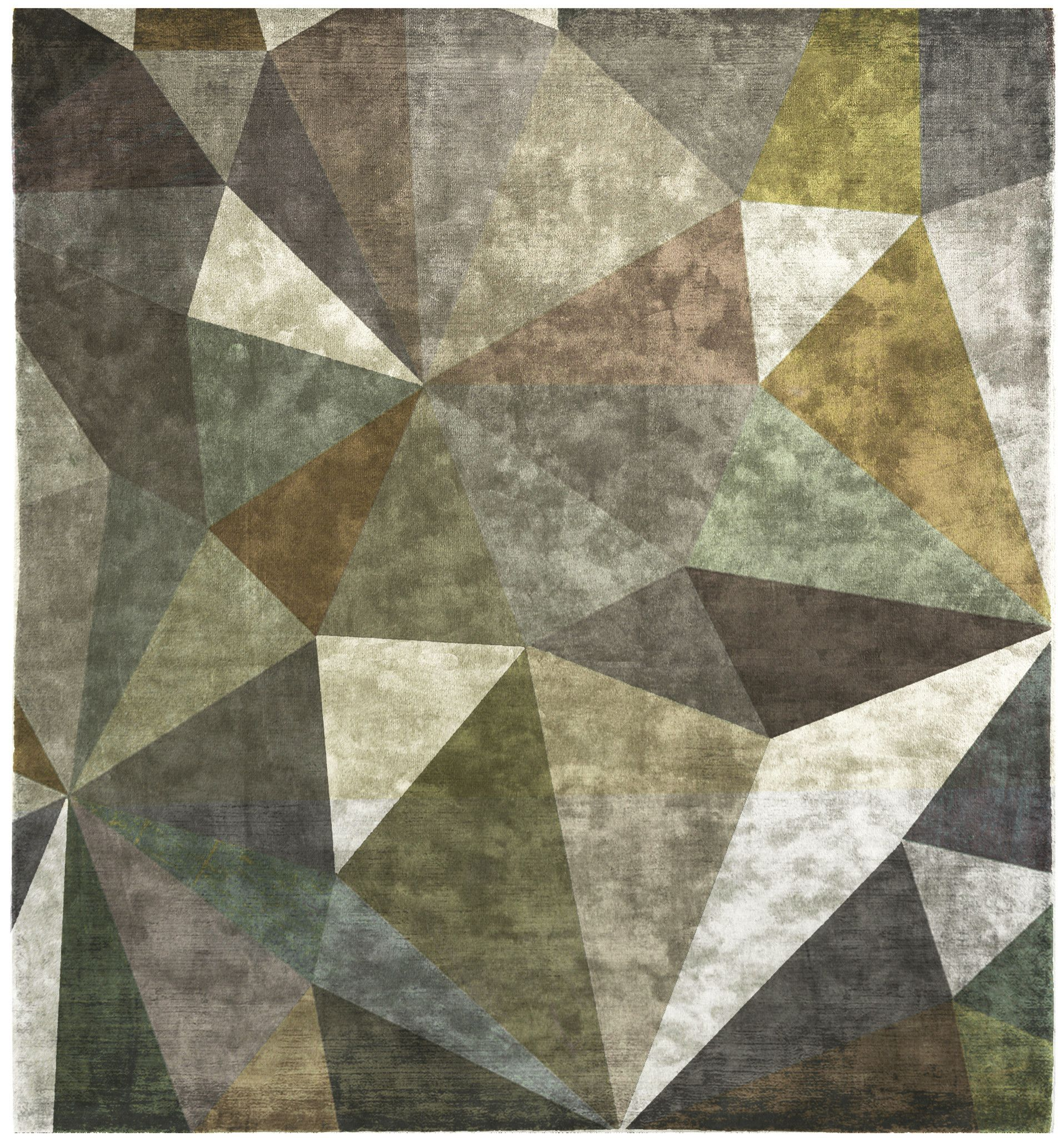 Quel Bordel Hand Knotted Rug In Green Design By Second Studio Designer