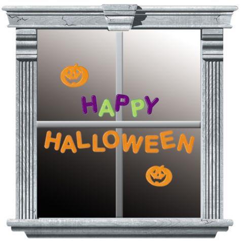 Happy Halloween Gel Clings - Party City Happy Halloween Gel Clings - halloween window clings