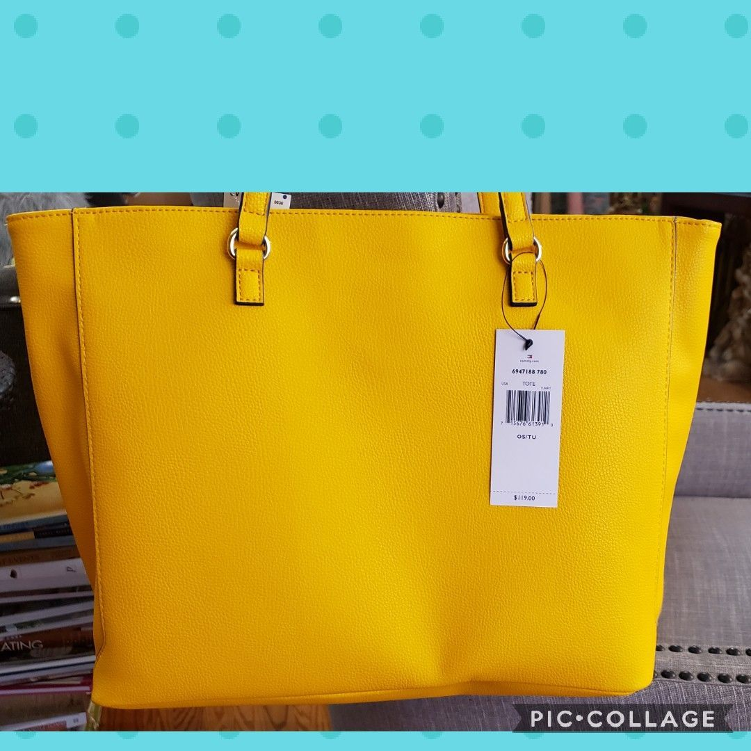 tommy hilfiger bag yellow