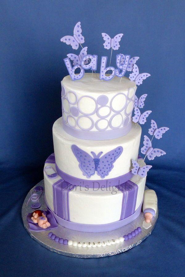 Arabella Butterfly Baby Shower Cake Baby Shower Cake Designs Cake
