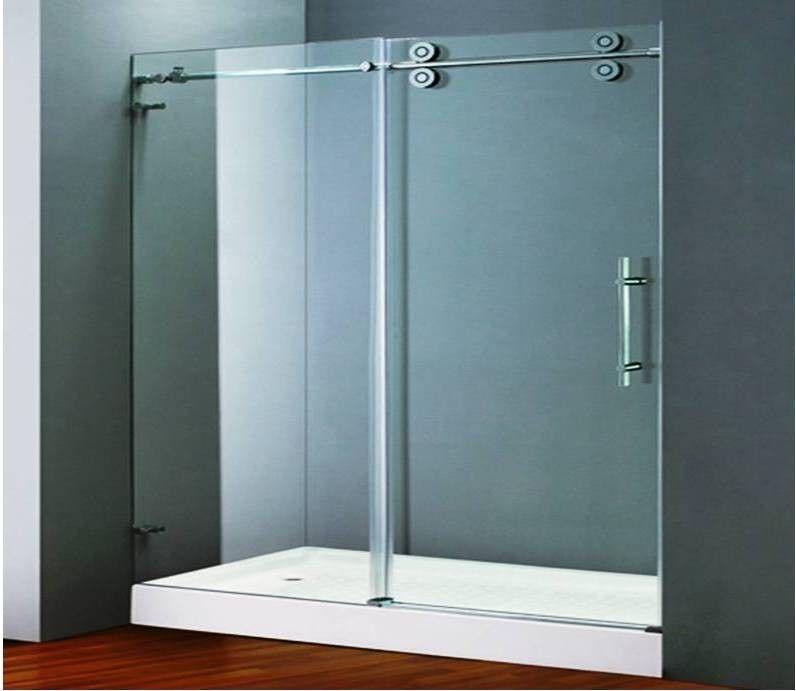 Aqua Decor Tous Frameless Sliding Shower Door View In Bathroom