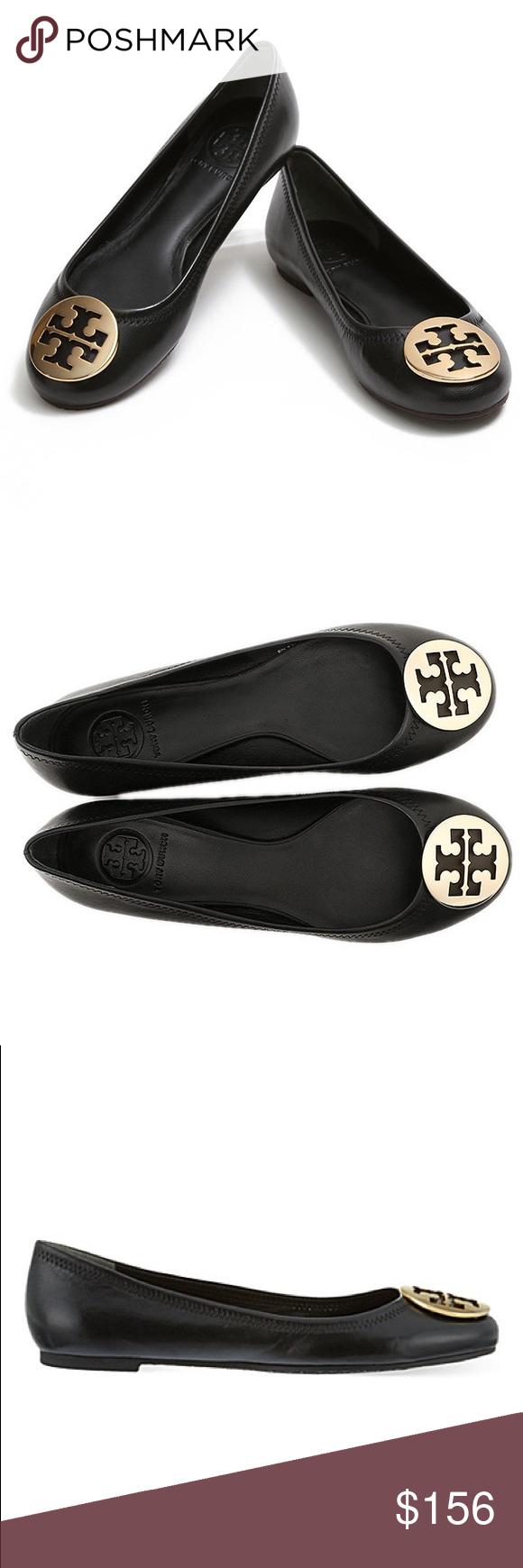 ac2a6ee55a3 Tory Burch Reva leather black Tory Burch Reva leather black The iconic Reva  Ballet Flat —