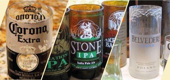 En 6 sencillos pasos podrás cortar una botella de vidrio y hacer vasos con botellas de vidrio, utilizando botellas de cerveza, vino o de algún otro licor.