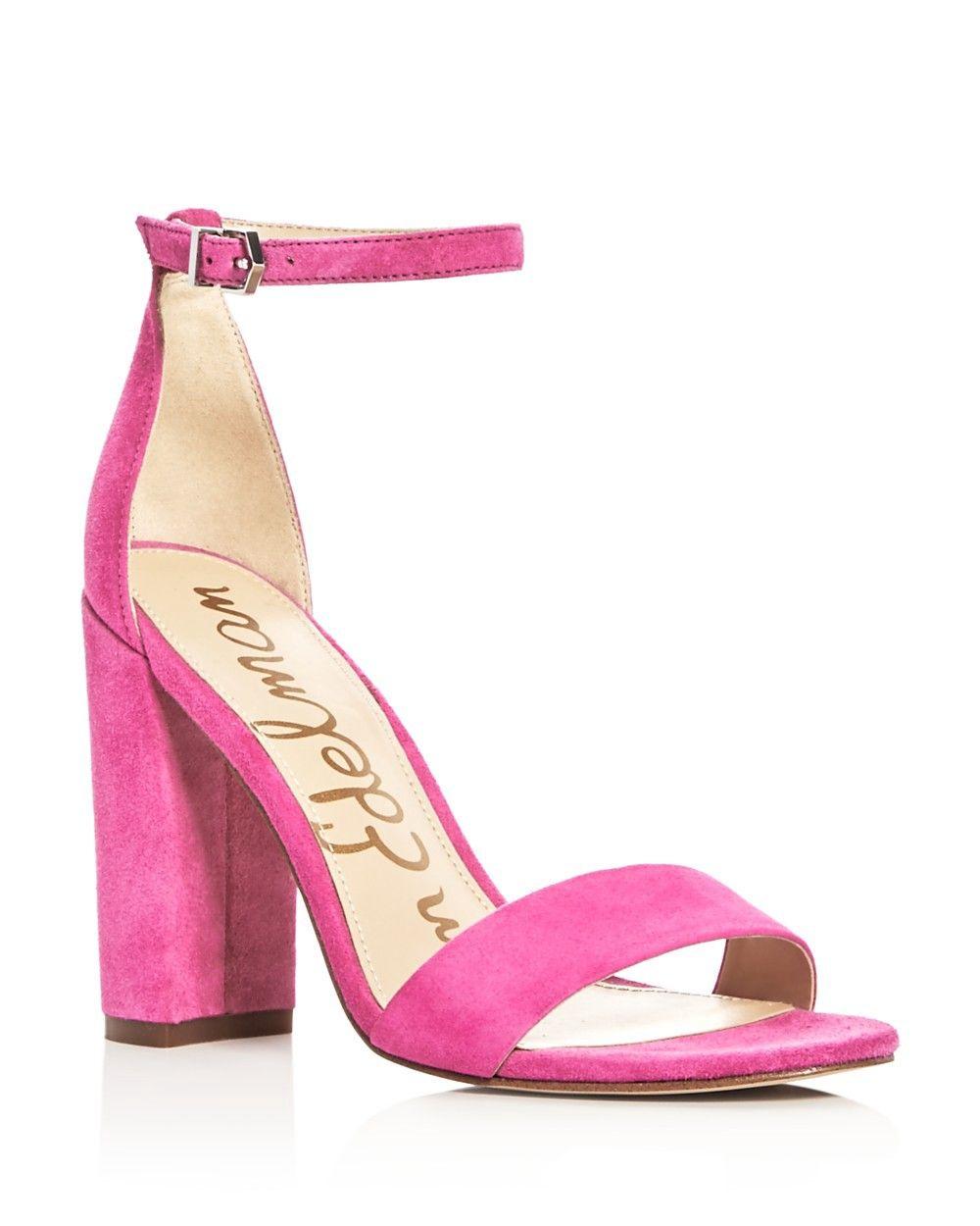 sam edelman hot pink sandals