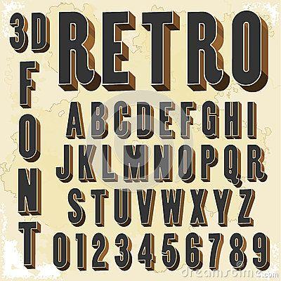 3d Retro Type Font Vintage Typography Vintage Typography Lettering Fonts Sign Painting Lettering