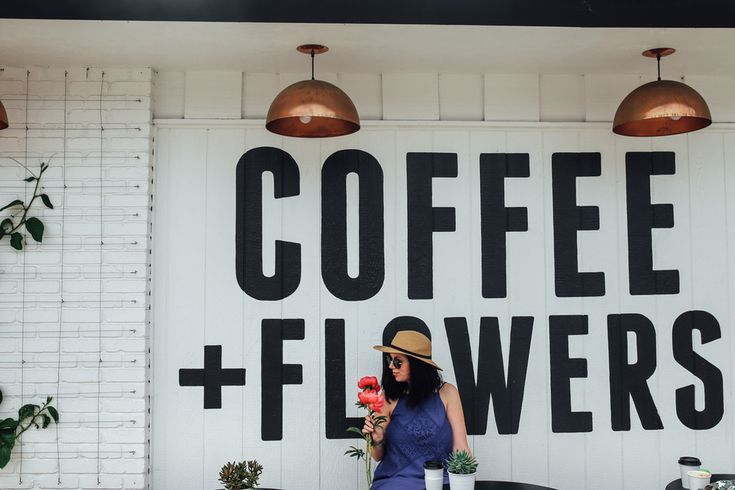 Coffee and Flowers at Communal Coffee in San Diego — Local
