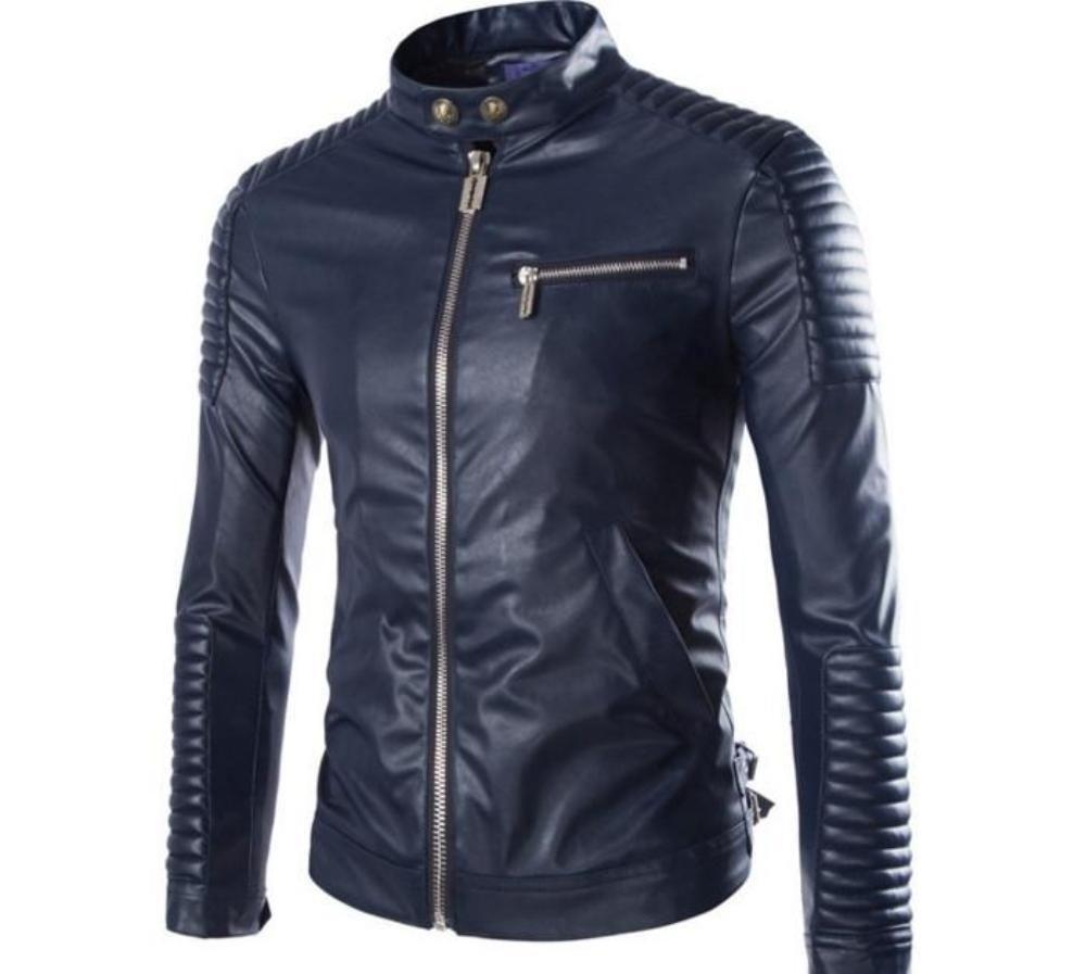 Mens Faux Leather Biker Jacket In Black Leather Jacket Men Biker Jacket Men Pu Leather Jacket [ 897 x 1000 Pixel ]