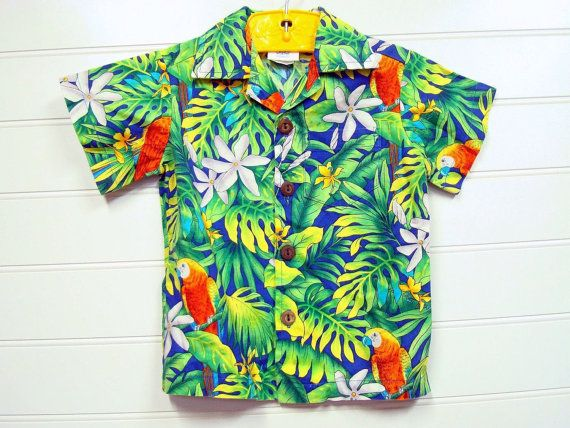 6e7249876 Vintage Toddler Boy Hawaiian shirt With a by OnceUponADaizy, $16.00 ...