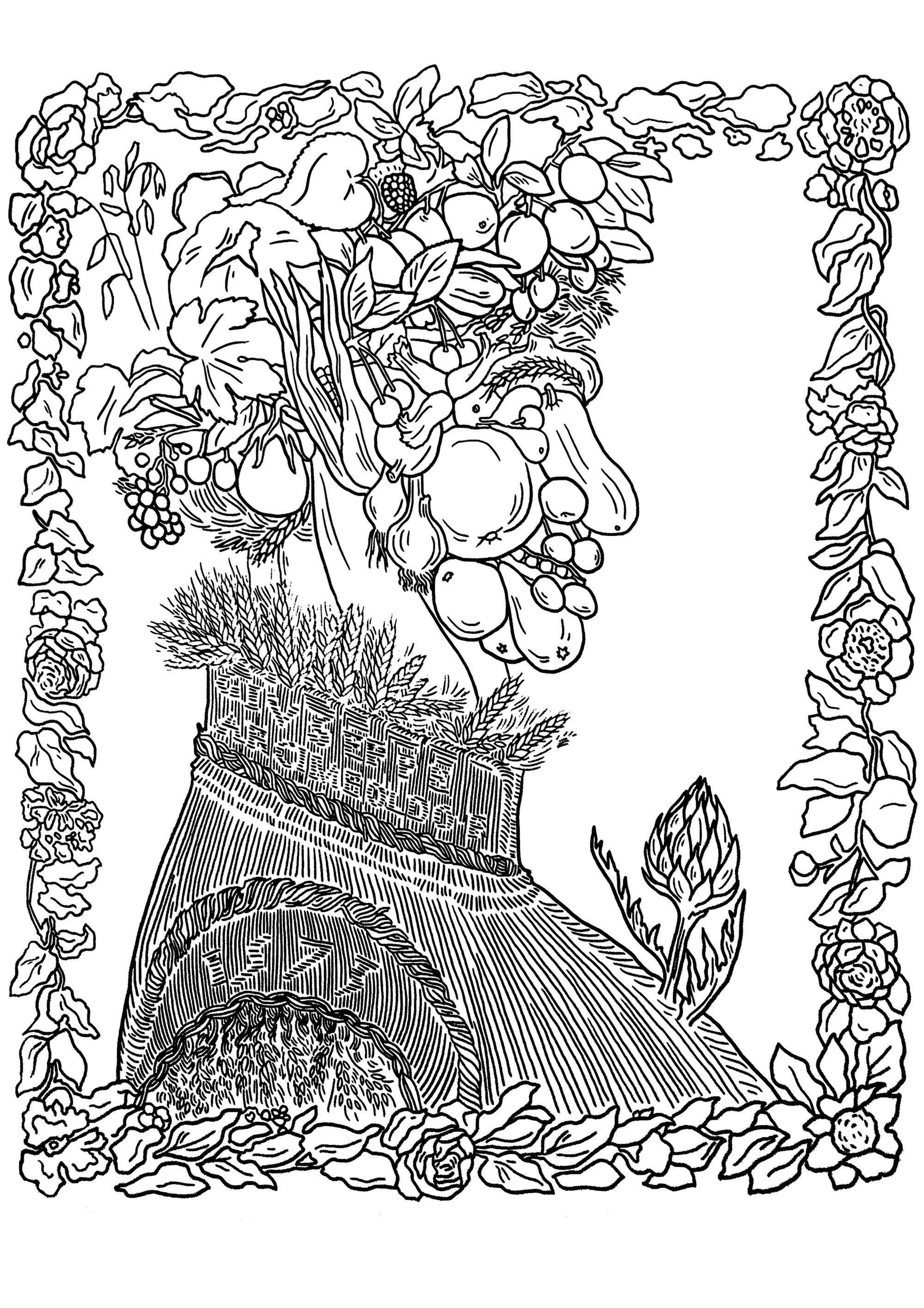 Giuseppe Arcimboldo Ete Portrait Entierement Compose De Fruits