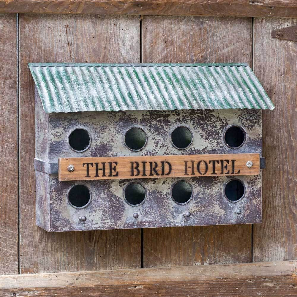 The Bird Hotel Wall-Mounted Birdhouse #birdhouses