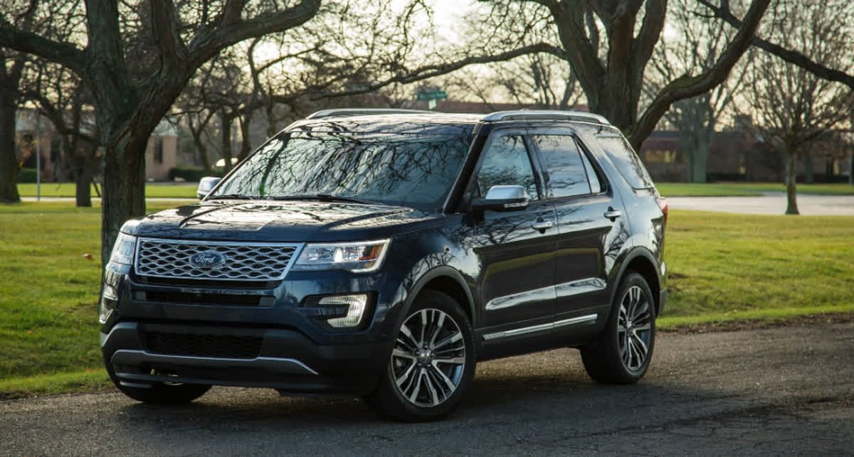 The Ford Explorer offers front wheel drive or allwheel