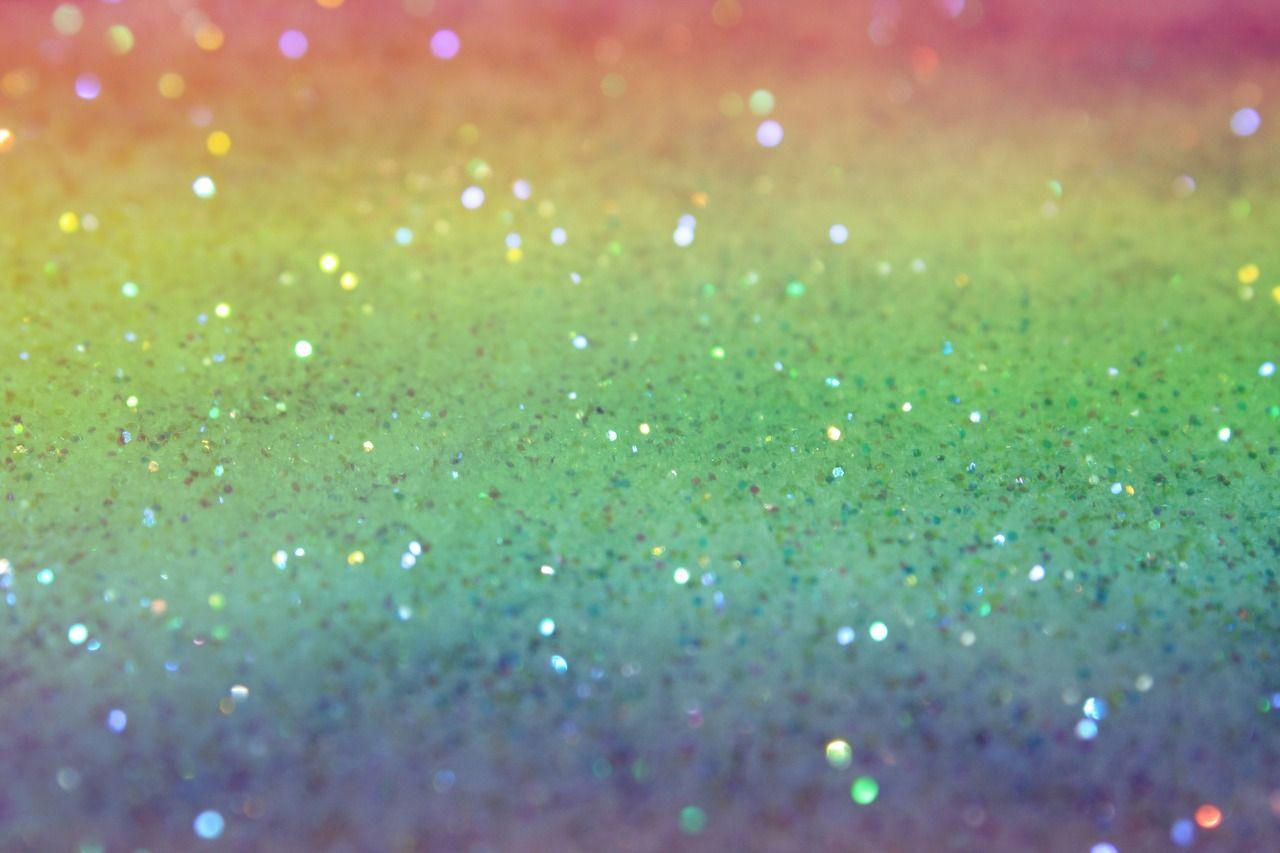pastel rainbow glitter