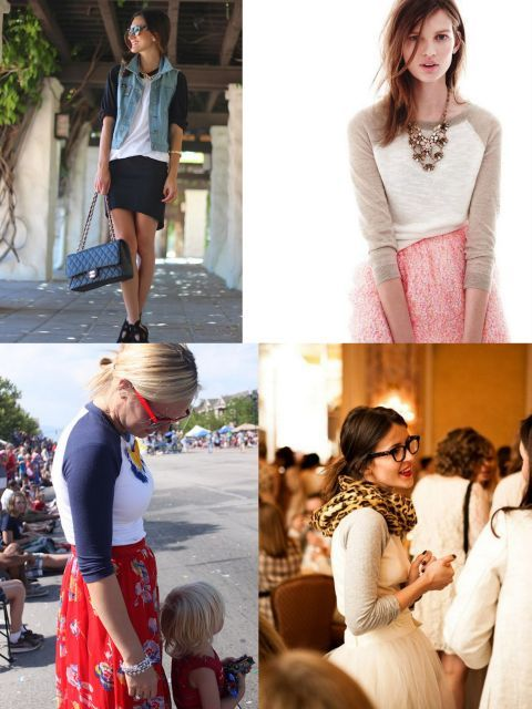 how to style a baseball tee  inspiration