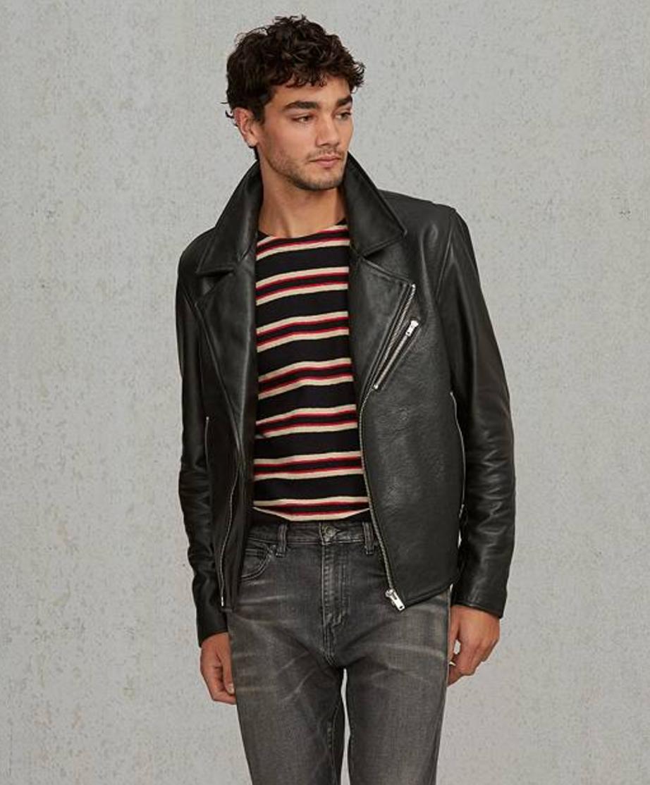 Levi's Made & Crafted Black Leather Off Road Biker Jacket
