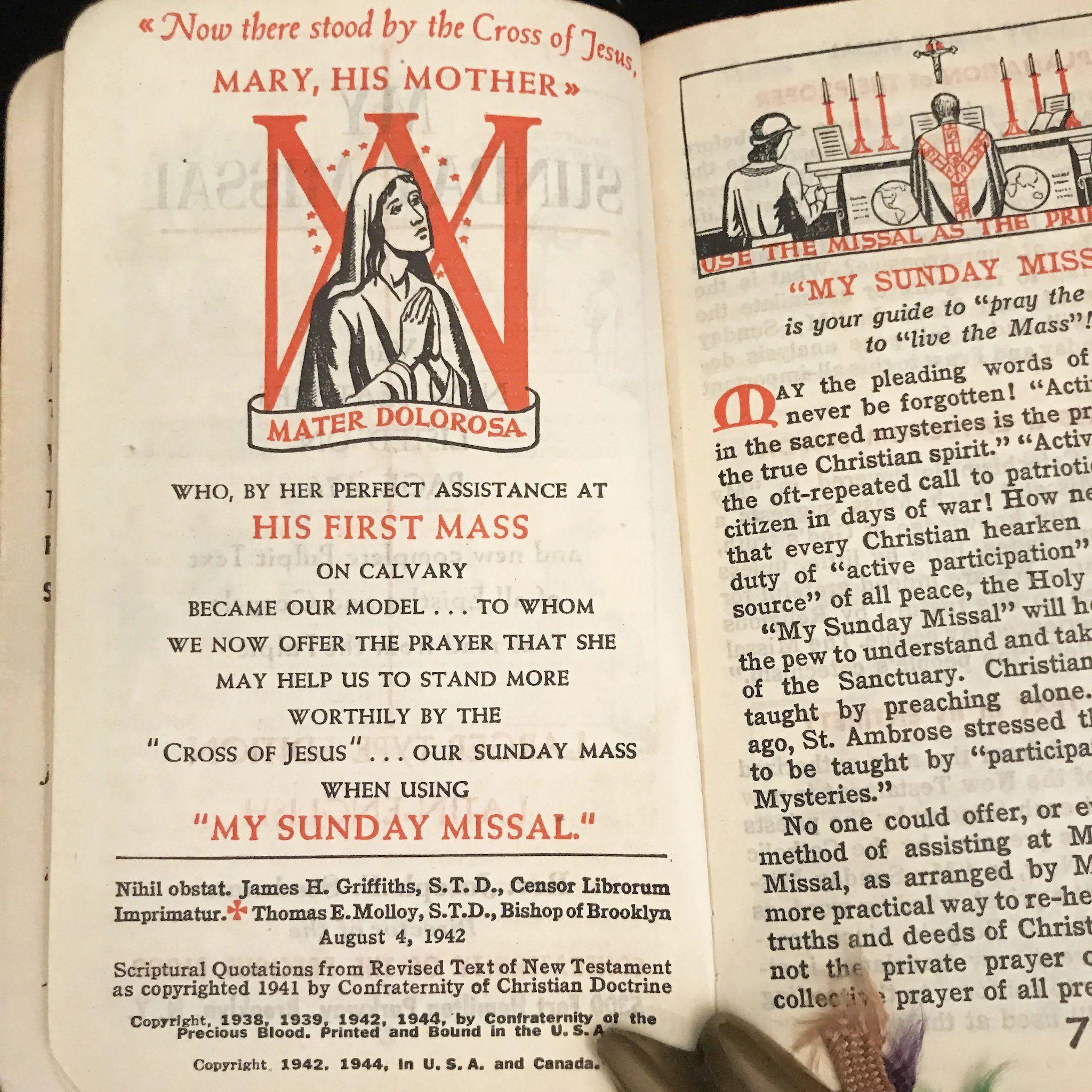 1944 My Sunday Missal Explained By Fr Stedman Large Type Catholic Prayer Book Jesus On The Cross Prayer Book