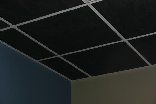 Drop Ceiling Decorative Tiles Black Acoustic Drop Ceiling Tiles Sound Absorbing 2'x4' Acoustical
