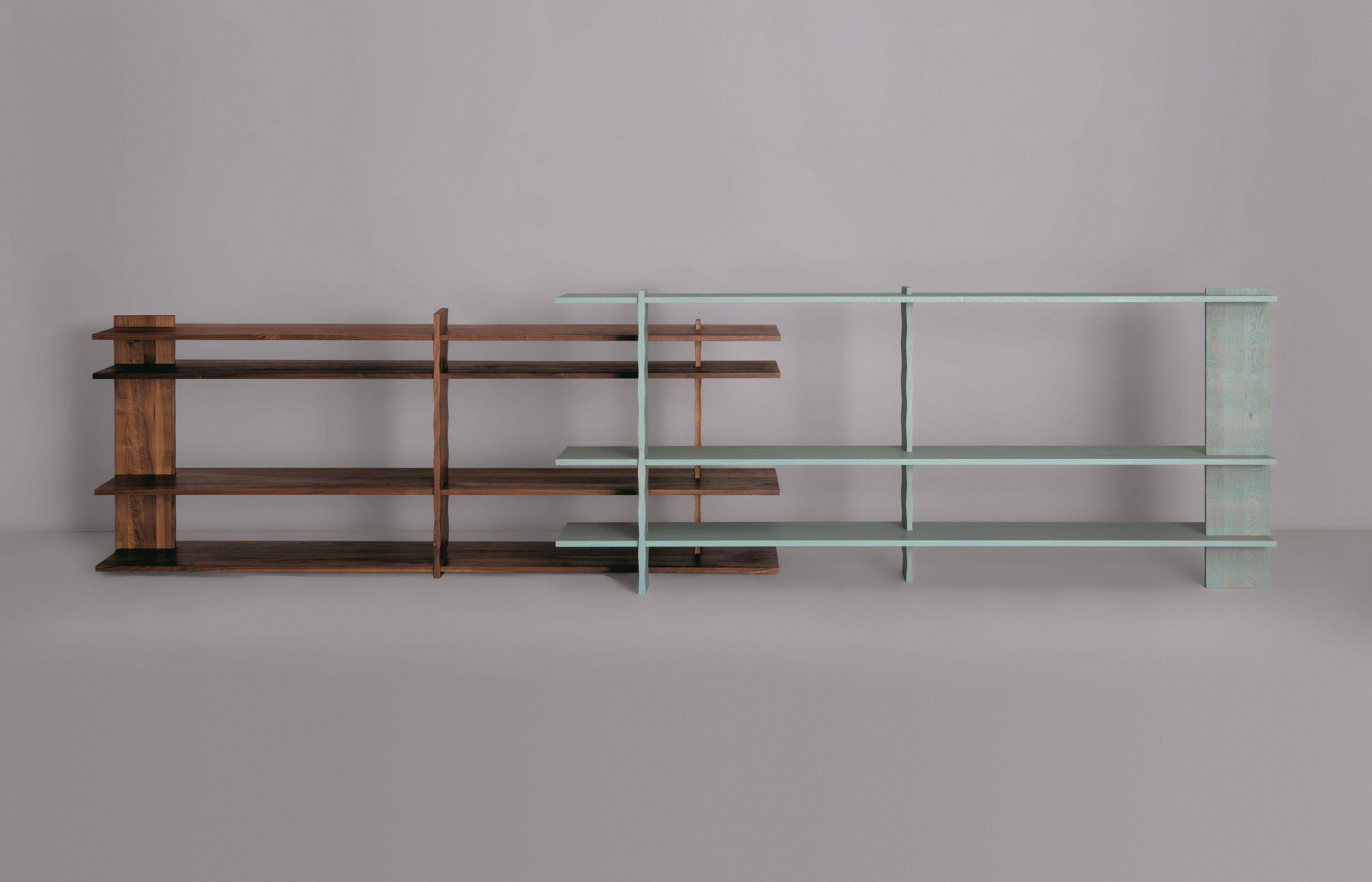 Librería abierta independiente de madera 3°REGAL by ZEITRAUM | diseño AERO ARCHITEKTEN