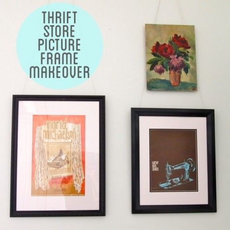 Makeover Thrift Store Picture Frames Painted Picture Frames