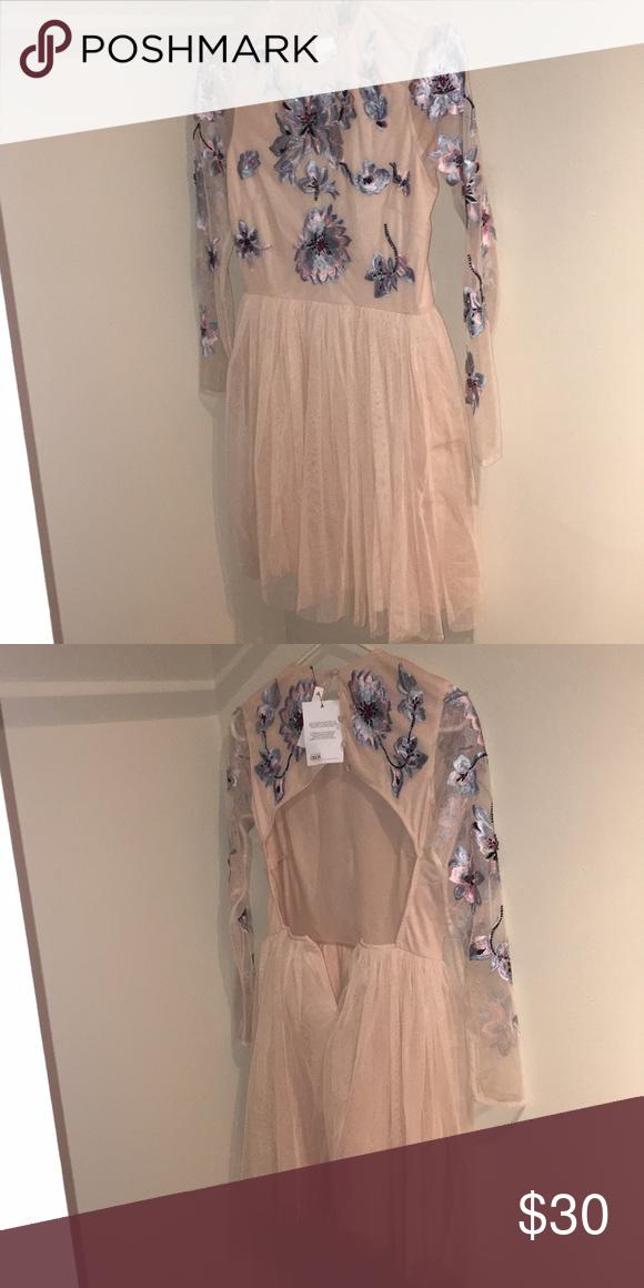 Asos Petite Pastel Embroidered Tulle Mini Dress Asos Petite Dresses Asos Petite Mini Dress
