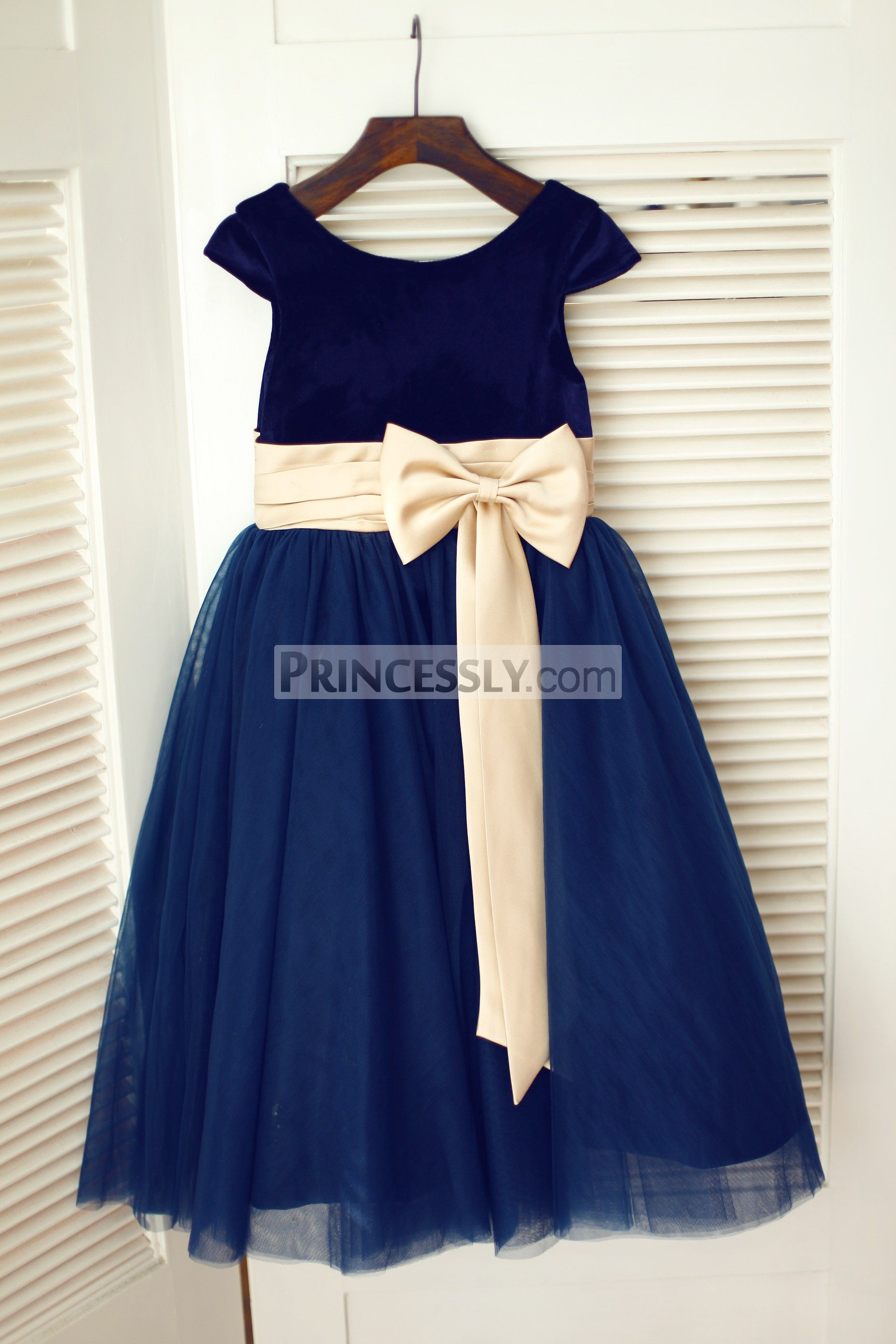 Navy blue velvet tulle cap sleeve wedding flower girl dress with princessly k1003337 navy blue velvet tulle cap sleeve wedding flower girl dress with izmirmasajfo