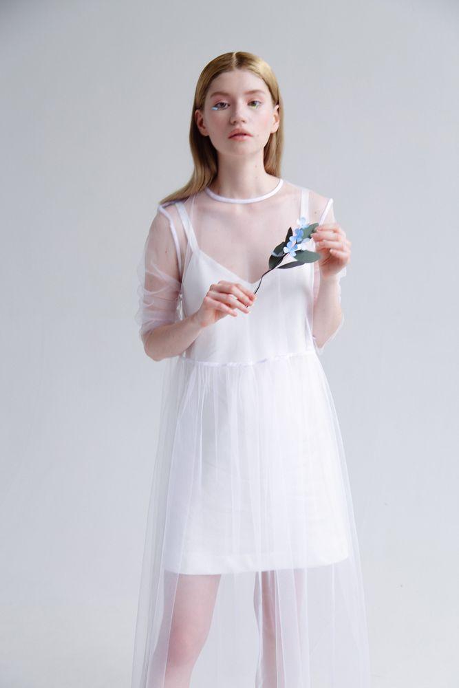 57466e5e76f68d0 Платье прозрачное белое / Transparent dress white | Fashion ...