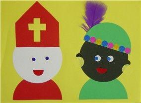 Sinterklaas en zwarte piet #zwartepietknutselen