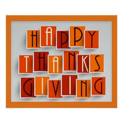 A Happy Thanksgiving Poster - fall decor diy customize special cyo ... 241ac3c146f1