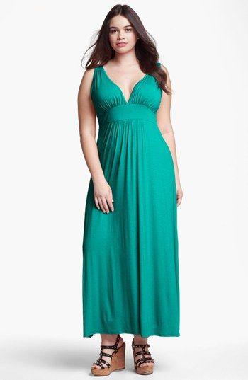 LOVEAPPELLA V-Neck Jersey Maxi Dress (Plus Size) | Nordstrom | My ...
