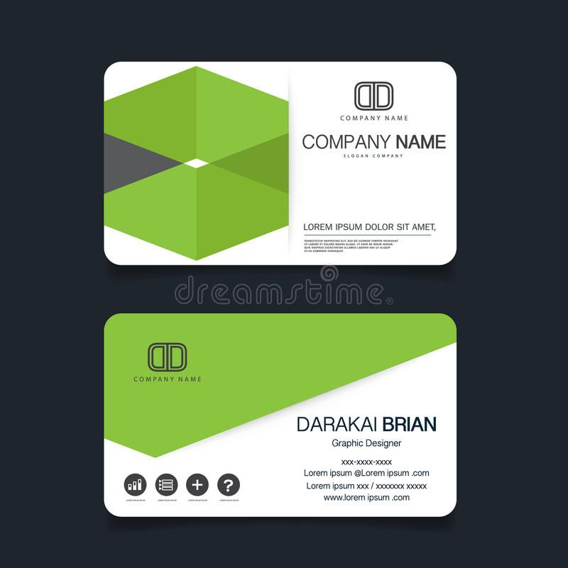 Visitenkarte Vorlage Schwarz Mit Business Card Template Ai