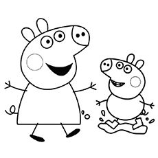 print coloring image | pig birthday, pig party and birthdays - Peppa Pig Coloring Pages Print