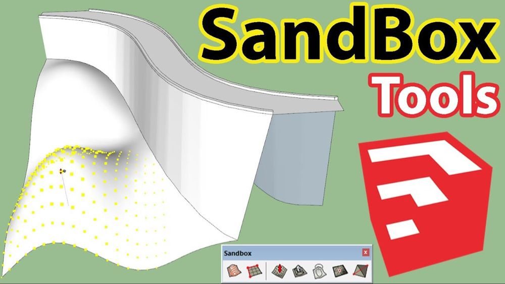 How To Use Sandbox Tools In Sketchup Youtube With Images
