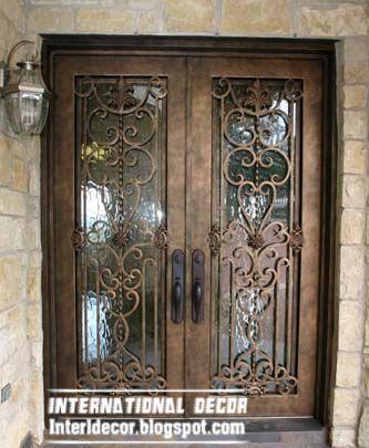 glass door inserts for modern house double doors italian double