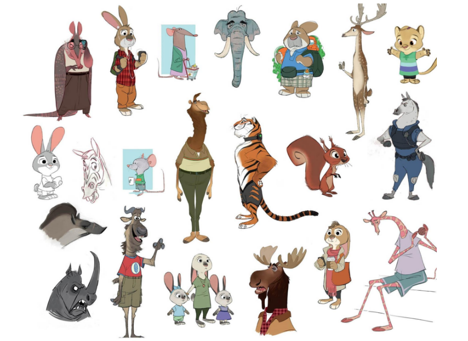 Zootopia Character Design Artist : Some more concept art of zootopia citizen and a horse did