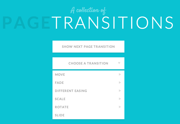 Page transitions - a collection