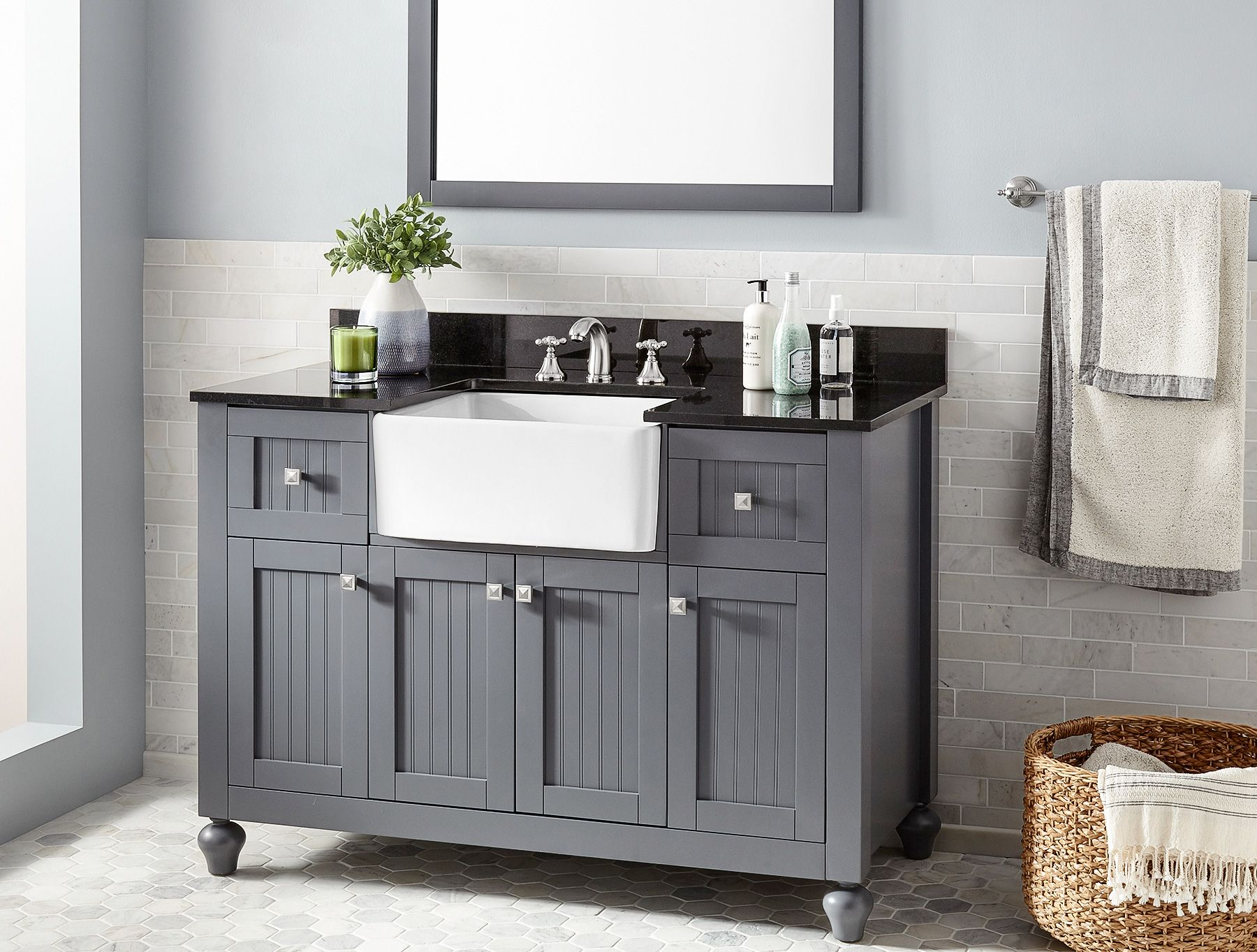21. 48Inch Nellie Farmhouse Sink Vanity • Signature