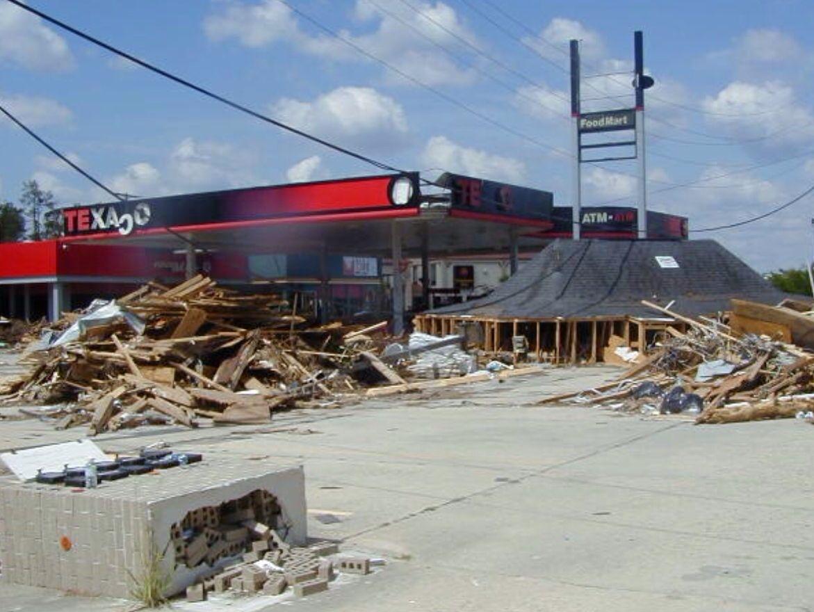 Remains Of Ping Plaza Diamondhead Ms After Hurricane Katrina