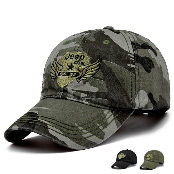 bc30b4e6a58 Fashion New Outdoor Jeep Camo baseball hats