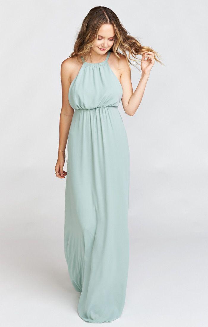 Amanda Maxi Dress ~ Silver Sage Crisp | Wedding, Wedding styles and ...