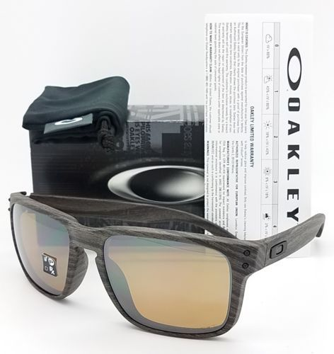 42fcbb1bccc NEW Oakley Holbrook sunglasses Woodgrain Tungsten Polarized 9102 A3 GENUINE  wood. Wood