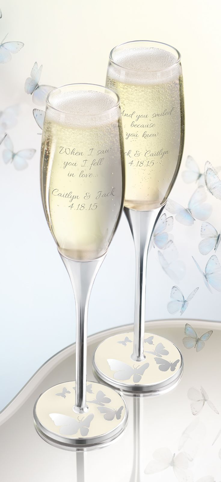 You could WIN this Butterfly Bliss #wedding flutes and cake server ...