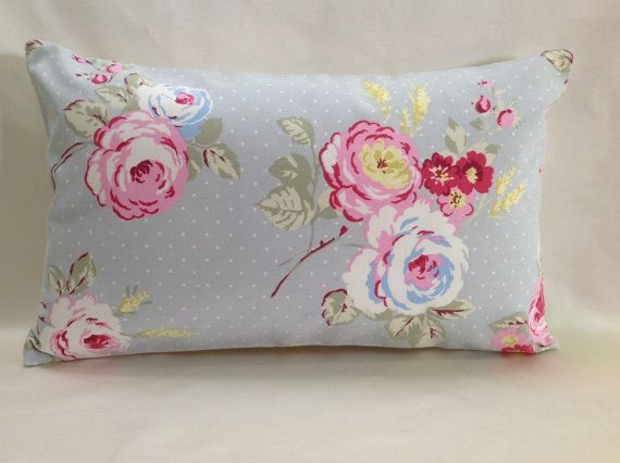 Shabby Chic Lumbar Pillows : lumbar pillow, Decorative throw pillow, English Rose, shabby chic, Boudoir, Bolster, Floral ...