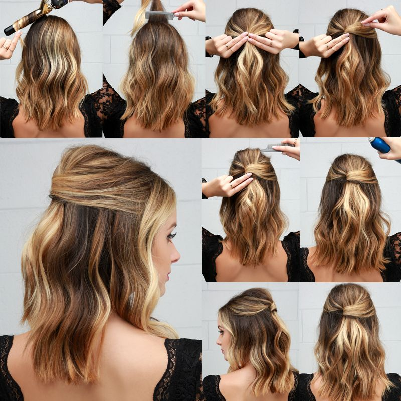 Lulus How To Half Up Party Lob Lulus Com Fashion Blog Lob Hairstyle Hair Styles Wedding Hairstyles For Long Hair