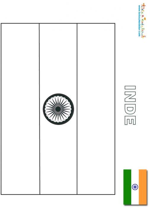 Coloriage du drapeau de l 39 inde t te modeler - Coloriage drapeau espagne ...