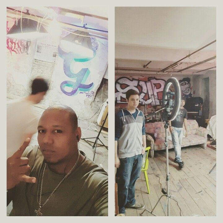 Estamos trabajando.. grabacion de otro video clip #QuieresTenerme www.soundcloud.com/marinba-stone