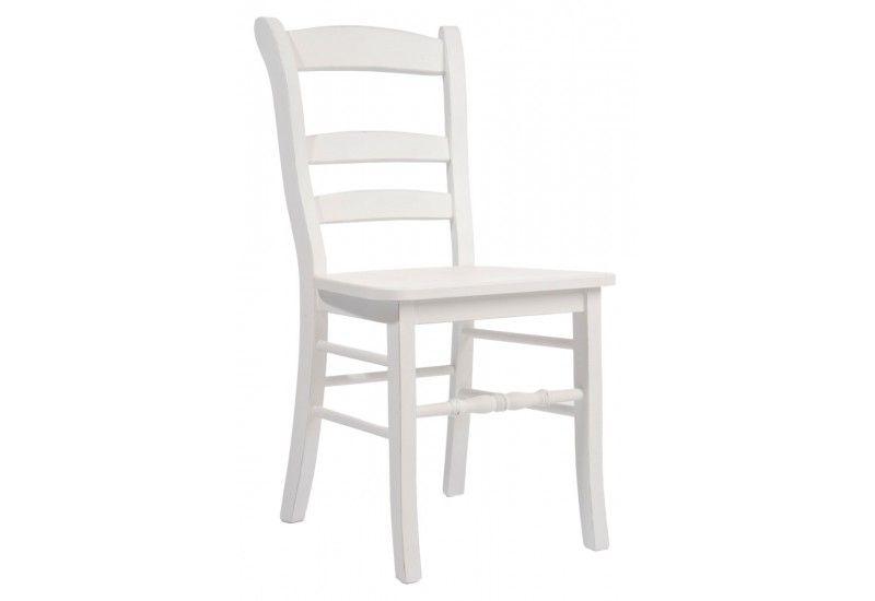 magnifique chaise en bois blanc pas cher | décoration française